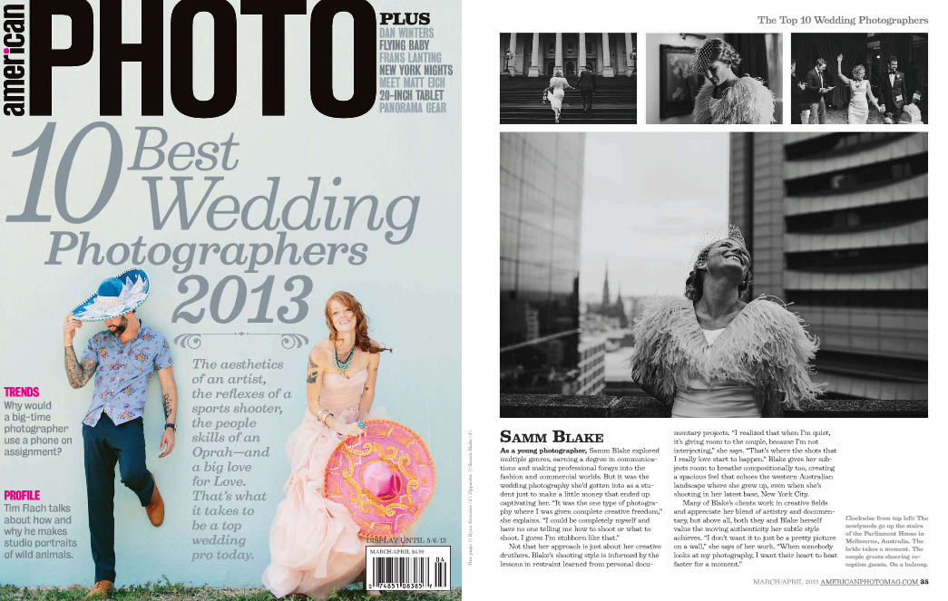 TOP TEN WEDDING PHOTOGRAPHERS IN THE WORLD 2013